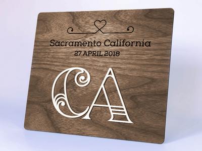 Wedding Sign glowforge affinity designer acrylic wood wedding logo laser cut signage