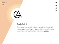 Andy Griffin Portfolio Redesign