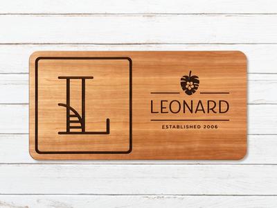 Leonard Family Sign environmental graphics sign monogram illustration laser cut family