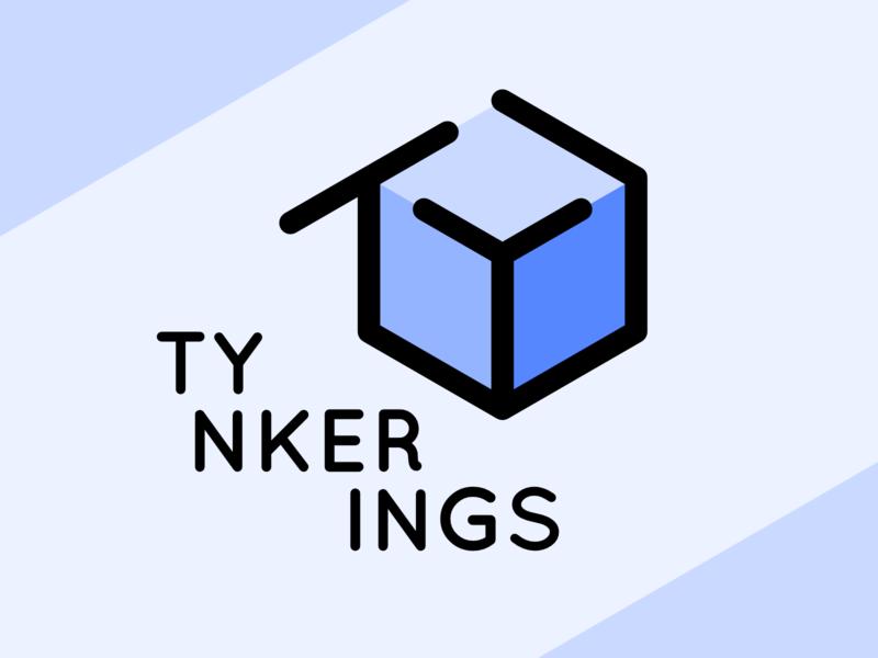 Tynkerings Logo blue branding vector 3d logo affinity designer