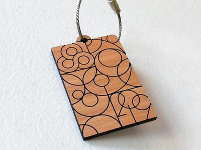 Bonnaroo 2019 Keychain wood laser cut illustration line art affinity designer