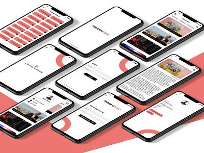 News app UI concept android ios ux branding news app ui