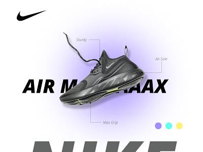 Concept Nike shoe air max design ui branding flyer shoe design