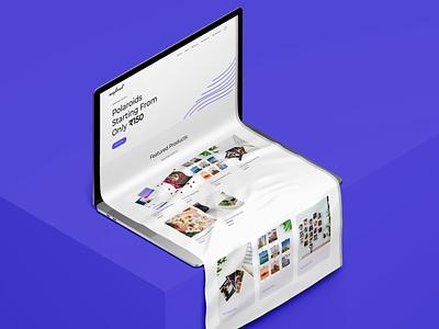 Website UI for snapland logo designbranding ux web ui wordpress