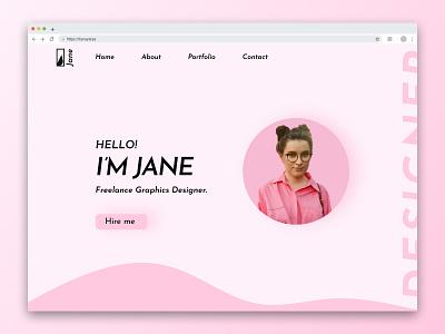 Portfolio UI For Web typography graphic design ux ui portfolio