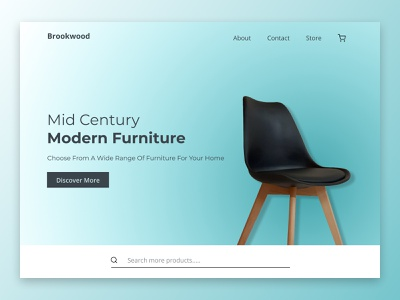 Minimal furniture website website furniture graphics uidesign minimal