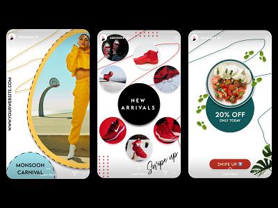 Instagram Story Monsoon Pack sale banners instagram branding graphic design monsoon banner ads insta ads instagram story