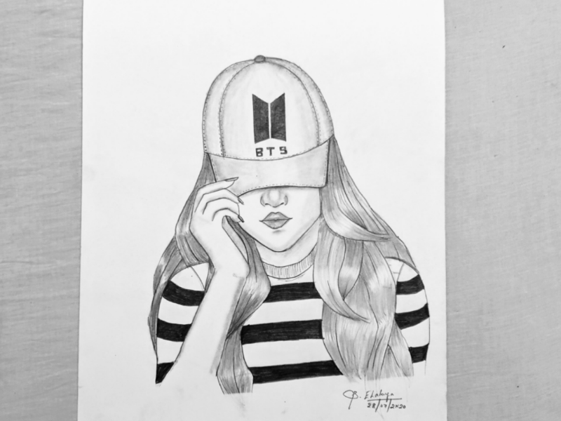 Bts Army Girl By Elakya Sekar On Dribbble