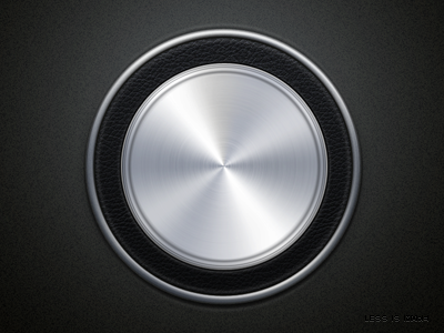 Another button ui button silver cortex texture stainless steel
