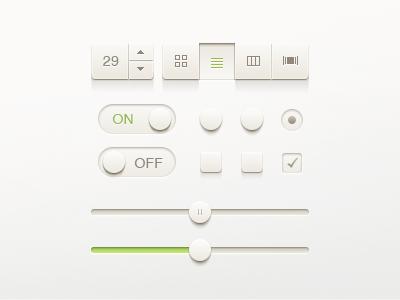UI Kit ui kit ui switch on off button