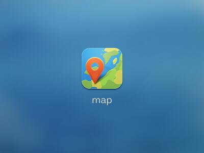 Map icon map icon ui gui theme