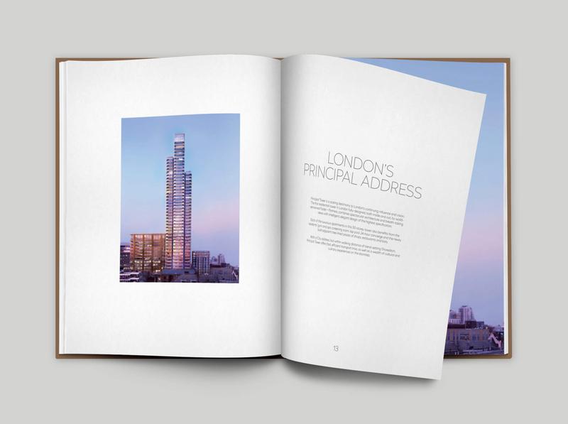 A Matter of Principal cgi brochure layout layout design print property development property residential skyscraper london principal tower photography logo typography branding