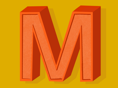 36 days of type  - M! dropcap 36daysoftype lettering illustration