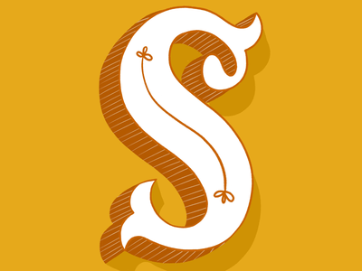 36 days of type - S! letter lettering dropcap illustration 36daysoftype