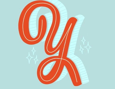 36 Days of Type - Y! graphicdesign graphicdesigner ipadartist design letters typography procreate letter dropcap 36daysoftype lettering illustration