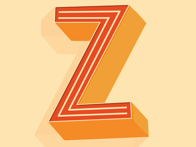 36 days of type - Z! letters lettering z
