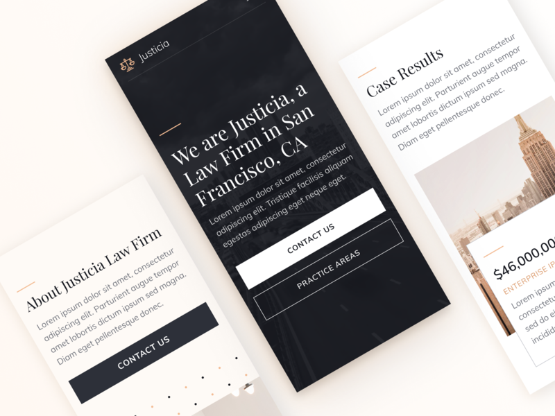 Mobile | Justicia - Law Firm & Attorney Webflow Template advocate law firm legal adviser justice legal law lawyers attorneys lawyer attorney mobile app mobile ui mobile design responsive design responsive mobile webflow