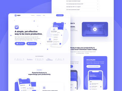 Landing Page | Apps - Mobile iOS & Android Webflow Template desktop app landing page app design mobile app interface product application apps app home web landing webdesign website homepage landingpage landing page web design webflow