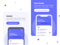 Android & iOS | Apps - Application Mobile Webflow Template desktop app landing page app design interface product application apps app mobile app mobile ui android app ios app ios android mobile webflow