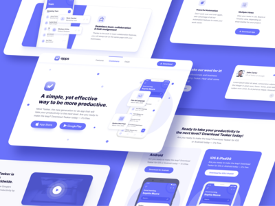 Web Design | Apps - Mobile App Webflow Template desktop app landing page app design mobile app interface product application apps app home web landing webdesign website homepage landingpage landing page web design webflow
