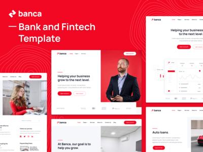 Presentation | Banca - Bank & Fintech Webflow Template home web landing webdesign website homepage landingpage landing page web design wealth wallet money credit card credit banking fintech finance bank