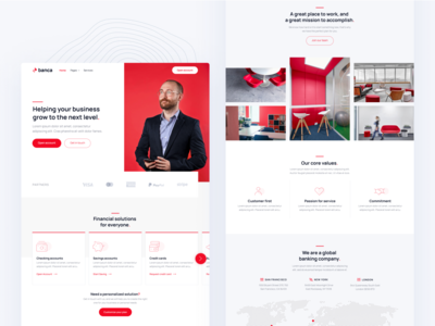 Homepage | Banca - Banking & Fintech Webflow Template home web landing webdesign website homepage landingpage landing page web design wealth wallet money credit card credit banking fintech finance bank