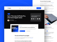 Podcasts | Radio - Podcast Webflow Template post editorial blog design feed news article blog post blogs blog audio podcasts radio music player apple music spotify streaming podcaster podcast