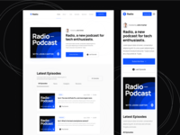 Home | Radio - Podcaster Webflow Templates home web landing webdesign website homepage landingpage landing page web design audio podcasts radio music player apple music spotify streaming podcaster podcast