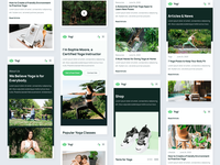 Mobile Design | Yogi - Yoga Studio Webflow Template mobile app mobile ui mobile design responsive design responsive mobile webflow coach plant plants green health gym wellness fitness yoga
