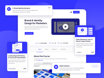 UI Components | Academy - Course Webflow Template uiux cards user experience ux ux design ui design userinterface user interface ui learning platform e-learning educational lesson education online courses learning learn courses webflow