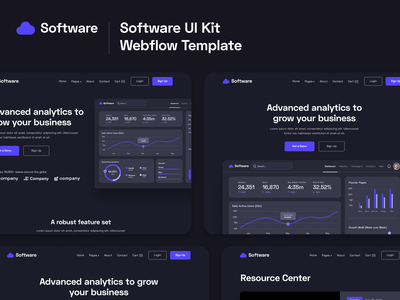 Presentation | Software Webflow Template & UI Kit home template landing webdesign website homepage landingpage landing page web design software startup tech startup web-app cloud b2c saas b2b saas tech saas webflow