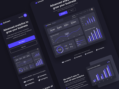 Home and Mobile | Software Webflow Template & UI Kit | BRIX Temp home