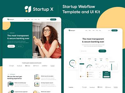 Presentation - Startup X Webflow Template & UI Kit b2b