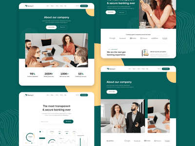 About and Homepages - Startup X Webflow Theme and UI Kit b2b