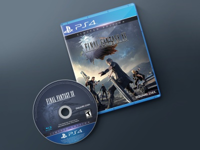 PS4 FINAL FANTASY XV Disc Re-design re-design cover blu ray disc playstation ps4 ffxv fantasy final