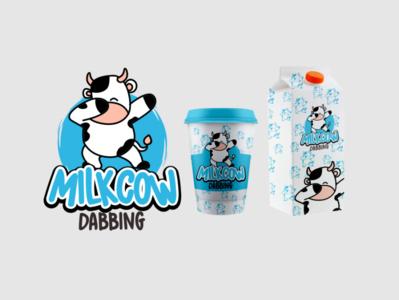 logo milk cow logo designer logo milk cow milk graphic design logo mark logotype logo sell icon illustration packaging design branding mascot logo vector logodesign