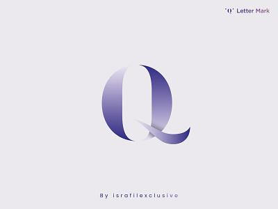 Q Letter Mark - Q Mark - Letter Logo q lettering letter geometric monochrome logo design a b c d e f g h i j k l m n o p q r s t u v w x y z t h e q u i c k b r o w n f o x monogram lettermark modern logotype branding symbol geometic brand icon software logo website logo