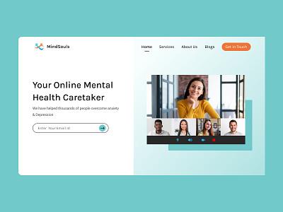 Mental Health Website Concept branding logo mental health website ui ux uidesign minimal design