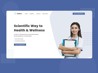 Medico Health Care Website fitness health medical ux ui vector branding minimal logo app uidesign design