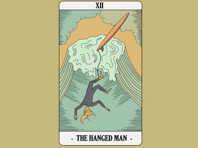 Surf Tarot - Hanged Man