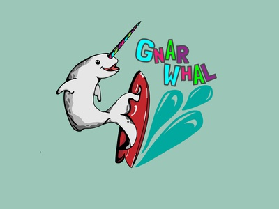 Gnarwhal or 'Gnarly Whale'