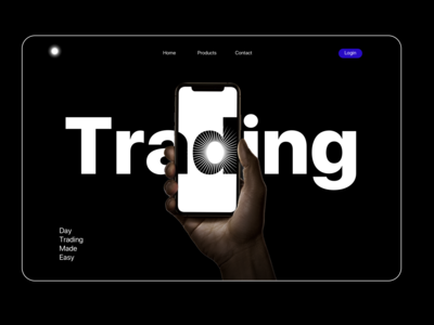 Day Trading Product landing page