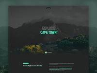 Explore Cape Town traveling journey blog visual hero photography explore travel typography website