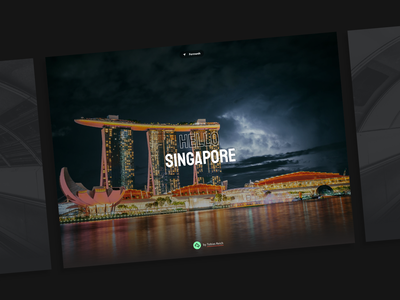 Fernweh photoblog website design animation hero travelblog travelling blog photography website