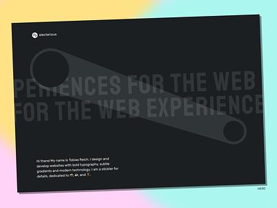 New portfolio showcase projects svg microinteractions web typography black and white hero ui portfolio minimal clean website
