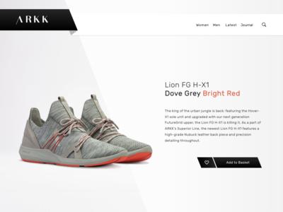Arkk ecommerce store copenhagen webshop shop arkk minimal sneaker website