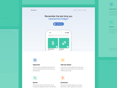 The Last Time hero web design site iphone ios landing design landing page app minimal website