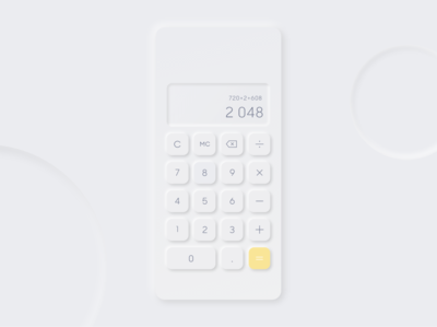 Daily UI 4 - Calculator