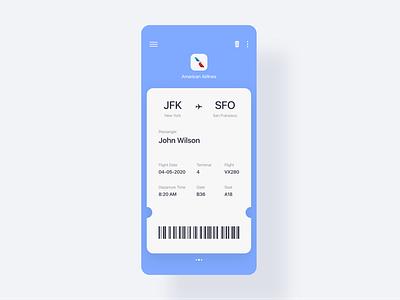 Daily UI 24 - Boarding Pass web webdesign ux airlines flight boarding pass boarding adobe xd app dailyui ui challenge ui