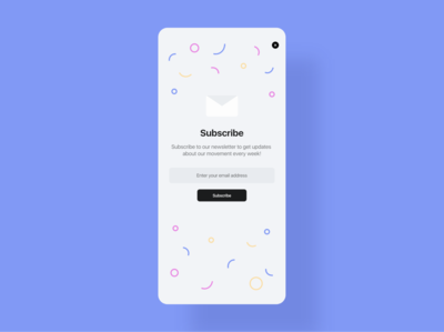 Daily UI 26 - Subscribe